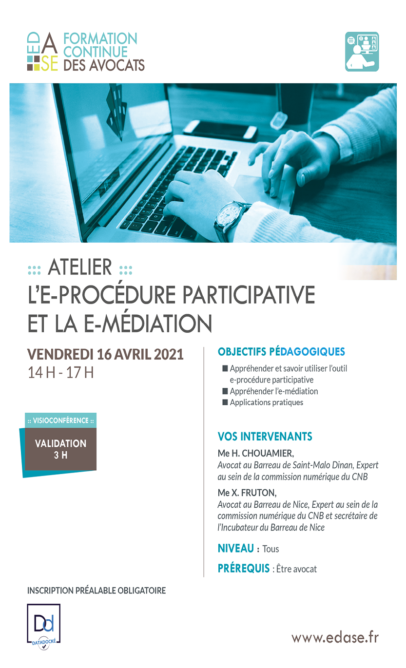 L'E-PROCEDURE PARTICIPATIVE ET L'E-MEDIATION